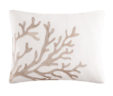Julianne's Shell Reef Tan Coral Pillow Embroidered